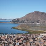 View of Puno and Titicaca Lake from Condor Mirador